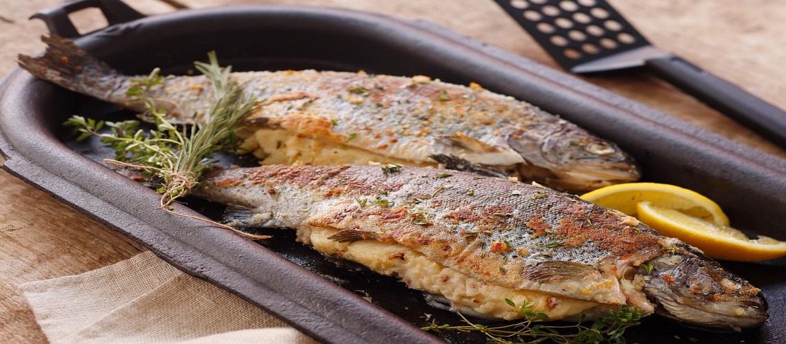 السمك المحشو بالبطاطس